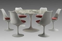 Eero Saarinen Round table and six chairs Eero Saarinen for Knoll circa 1960 - 1263678