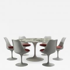 Eero Saarinen Round table and six chairs Eero Saarinen for Knoll circa 1960 - 1264969