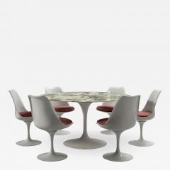 Eero Saarinen Round table and six rotating chairs Eero Saarinen for Knoll around 1960 - 991241