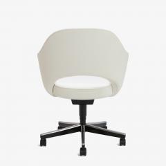 Eero Saarinen Saarinen Executive Arm Chair in Ivory Basket Weave Swivel Base - 367299