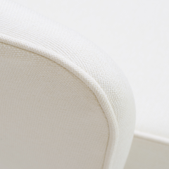 Eero Saarinen Saarinen Executive Arm Chair in Ivory Basket Weave Swivel Base - 367303