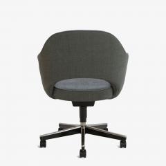 Eero Saarinen Saarinen Executive Arm Chair in Textured Charcoal Weave Swivel Base - 367314