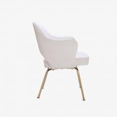 Eero Saarinen Saarinen Executive Arm Chairs in Dove Ultrasuede 24k Gold Edition Set of 6 - 306550