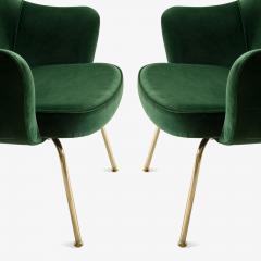 Eero Saarinen Saarinen Executive Arm Chairs in Emerald Velvet 24k Gold Edition - 524878