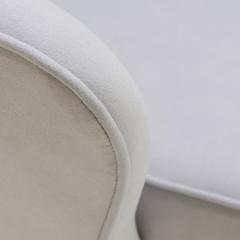 Eero Saarinen Saarinen Executive Arm Chairs in Fog Luxe Suede Swivel Base Set of 6 - 366930
