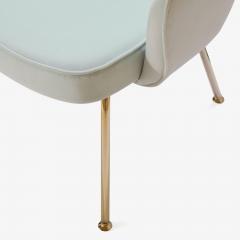 Eero Saarinen Saarinen Executive Arm Chairs in Mint Velvet 24 Karat Gold Edition Set of Six - 306666