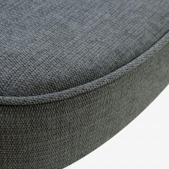 Eero Saarinen Saarinen Executive Arm Chairs in Textured Charcoal Weave Swivel Base Set of 6 - 367312