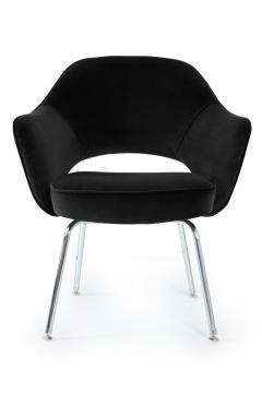 Eero Saarinen Saarinen Executive Armchairs in Black Velvet Set of Six - 240262