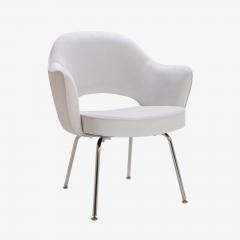 Eero Saarinen Saarinen Executive Armchairs in Dove Ultrasuede Set of Six - 306620