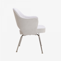 Eero Saarinen Saarinen Executive Armchairs in Dove Ultrasuede Set of Six - 306622