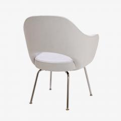 Eero Saarinen Saarinen Executive Armchairs in Dove Ultrasuede Set of Six - 306623