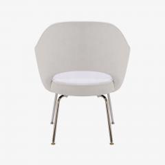 Eero Saarinen Saarinen Executive Armchairs in Dove Ultrasuede Set of Six - 306624