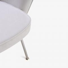 Eero Saarinen Saarinen Executive Armchairs in Dove Ultrasuede Set of Six - 306626