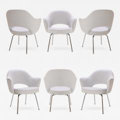 Eero Saarinen Saarinen Executive Armchairs in Dove Ultrasuede Set of Six - 307624