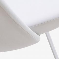 Eero Saarinen Saarinen Executive Armless Chair in Dove Luxe Suede - 396514