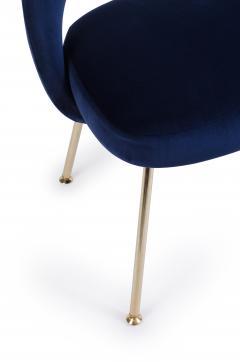 eero saarinen saarinen executive armless chair in navy velvet 24k