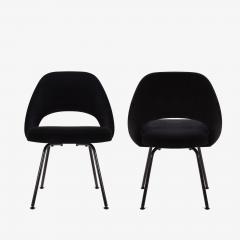 Eero Saarinen Saarinen Executive Armless Chairs Black Edition Set of 6 - 443651