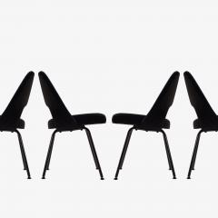 Eero Saarinen Saarinen Executive Armless Chairs Black Edition Set of 6 - 443653