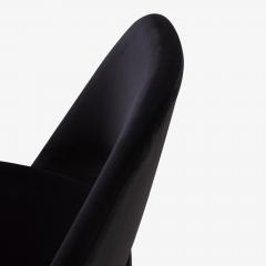 Eero Saarinen Saarinen Executive Armless Chairs Black Edition Set of 6 - 443654