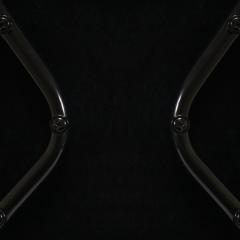 Eero Saarinen Saarinen Executive Armless Chairs Black Edition Set of 6 - 443657