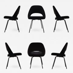Eero Saarinen Saarinen Executive Armless Chairs Black Edition Set of 6 - 444649