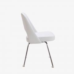 Eero Saarinen Saarinen Executive Armless Chairs in Dove Luxe Suede Set of 6 - 396480