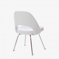 Eero Saarinen Saarinen Executive Armless Chairs in Dove Luxe Suede Set of 6 - 396481
