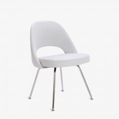 Eero Saarinen Saarinen Executive Armless Chairs in Dove Luxe Suede Set of 6 - 396482