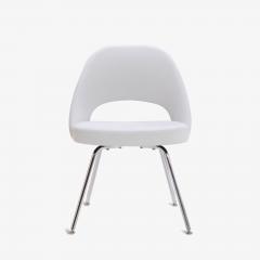 Eero Saarinen Saarinen Executive Armless Chairs in Dove Luxe Suede Set of 6 - 396483