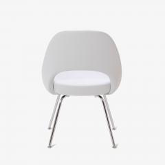 Eero Saarinen Saarinen Executive Armless Chairs in Dove Luxe Suede Set of 6 - 396485