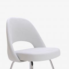 Eero Saarinen Saarinen Executive Armless Chairs in Dove Luxe Suede Set of 6 - 396486