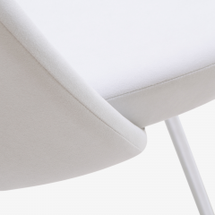 Eero Saarinen Saarinen Executive Armless Chairs in Dove Luxe Suede Set of 6 - 396487