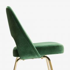 Eero Saarinen Saarinen Executive Armless Chairs in Emerald Velvet 24k Gold Edition - 524833