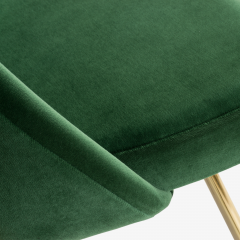 Eero Saarinen Saarinen Executive Armless Chairs in Emerald Velvet 24k Gold Edition - 524834