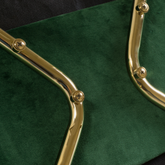 Eero Saarinen Saarinen Executive Armless Chairs in Emerald Velvet 24k Gold Edition - 524835
