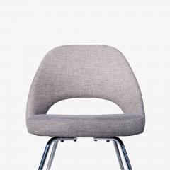 Eero Saarinen Saarinen Executive Armless Chairs in Gray by Eero Saarinen for Knoll Set of 6 - 1705159