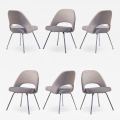 Eero Saarinen Saarinen Executive Armless Chairs in Gray by Eero Saarinen for Knoll Set of 6 - 1705625