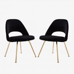 eero saarinen saarinen executive armless chairs in noir velvet