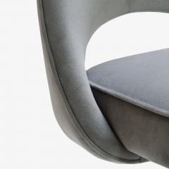Eero Saarinen Saarinen for Knoll Executive Armless Chair in Gray Moleskin Swivel Base - 291785
