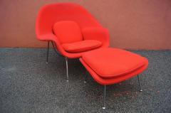 Eero Saarinen Womb Chair and Ottoman by Eero Saarinen for Knoll - 1205010