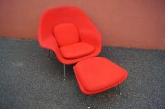 Eero Saarinen Womb Chair and Ottoman by Eero Saarinen for Knoll - 1205012