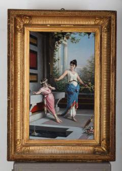 Egisto Sarri Pompeian Scene Oil on Canvas - 636802