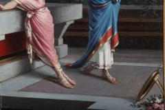 Egisto Sarri Pompeian Scene Oil on Canvas - 636803