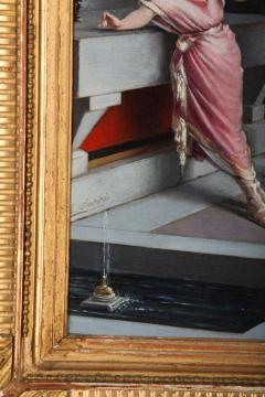 Egisto Sarri Pompeian Scene Oil on Canvas - 636805