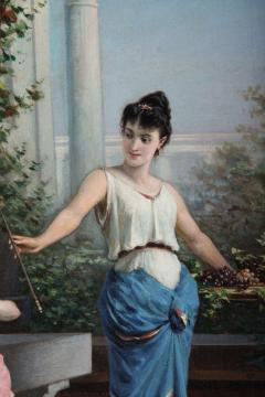 Egisto Sarri Pompeian Scene Oil on Canvas - 636806
