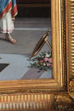 Egisto Sarri Pompeian Scene Oil on Canvas - 636807