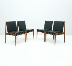 Egon Eiermann Egon Eiermann SE 121 Dining Room Chairs in Dark Stained Beechwood 1960s - 1837559