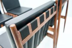 Egon Eiermann Egon Eiermann SE 121 Dining Room Chairs in Dark Stained Beechwood 1960s - 1837561
