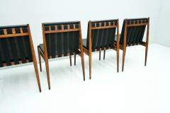 Egon Eiermann Egon Eiermann SE 121 Dining Room Chairs in Dark Stained Beechwood 1960s - 1837564