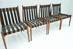 Egon Eiermann Egon Eiermann SE 121 Dining Room Chairs in Dark Stained Beechwood 1960s - 1837568